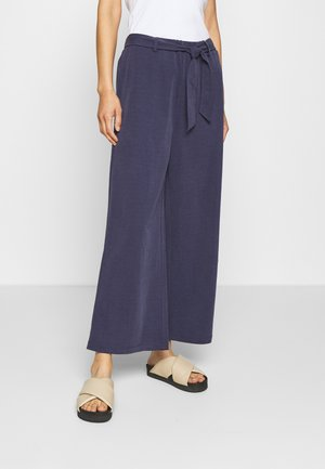 Trousers - dark steel blue