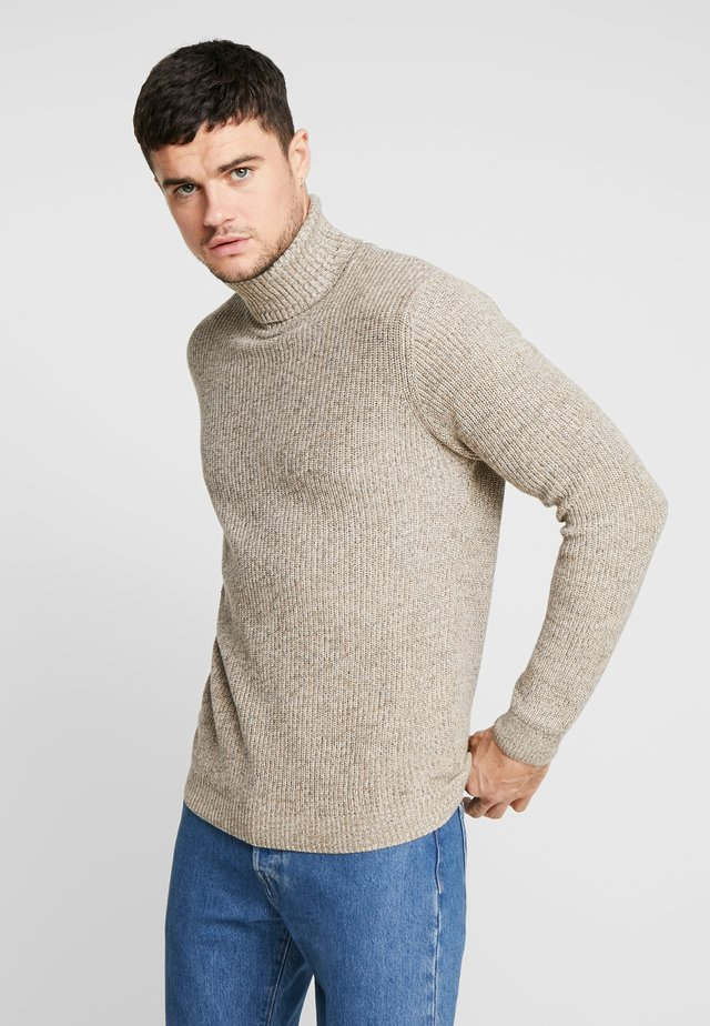 OLIVER ROLL NECK - Sweter - stone