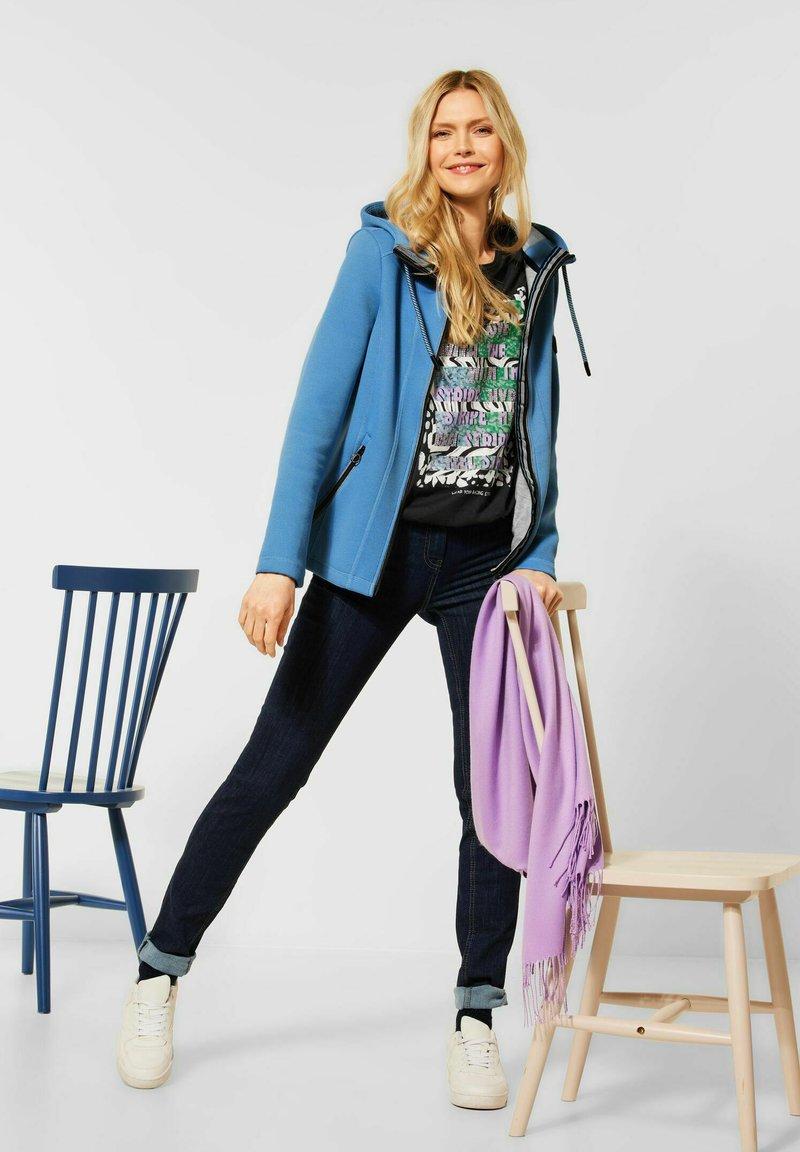 Cecil - Zip-up hoodie - blau