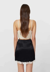 Stradivarius - A-line skirt - black - 2