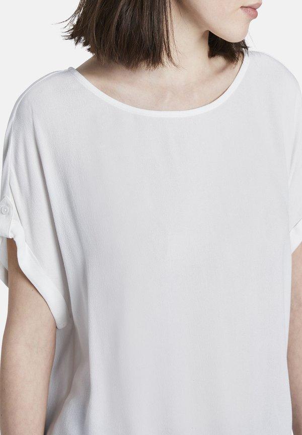 TOM TAILOR DENIM BLUSEN SHIRTS BLUSENSHIRT MIT TURN UPS - Bluzka - off white/mleczny KWCE