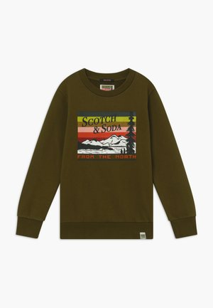CREWNECK WITH COLOURFUL ARTWORK - Sweater - military