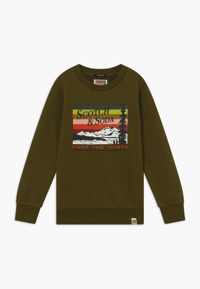 CREWNECK WITH COLOURFUL ARTWORK - Sweatshirt - military