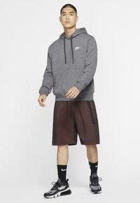 Nike Sportswear - CLUB HOODIE - Hoodie - charcoal heather/anthracite/white - 1