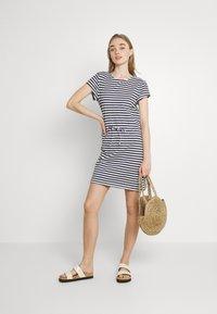 Vila - VIMOONEY STRING - Jersey dress - navy blazer/white - 1