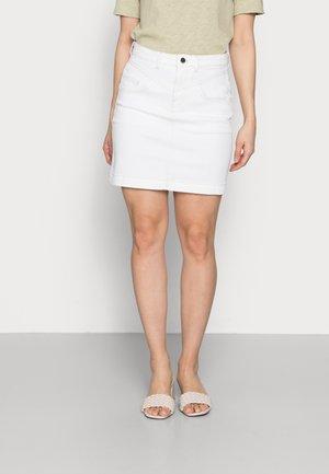 SKIRT - Mini skirt - denim white