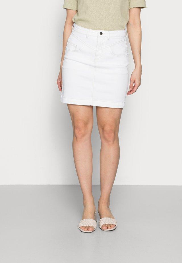SKIRT - Miniskjørt - denim white