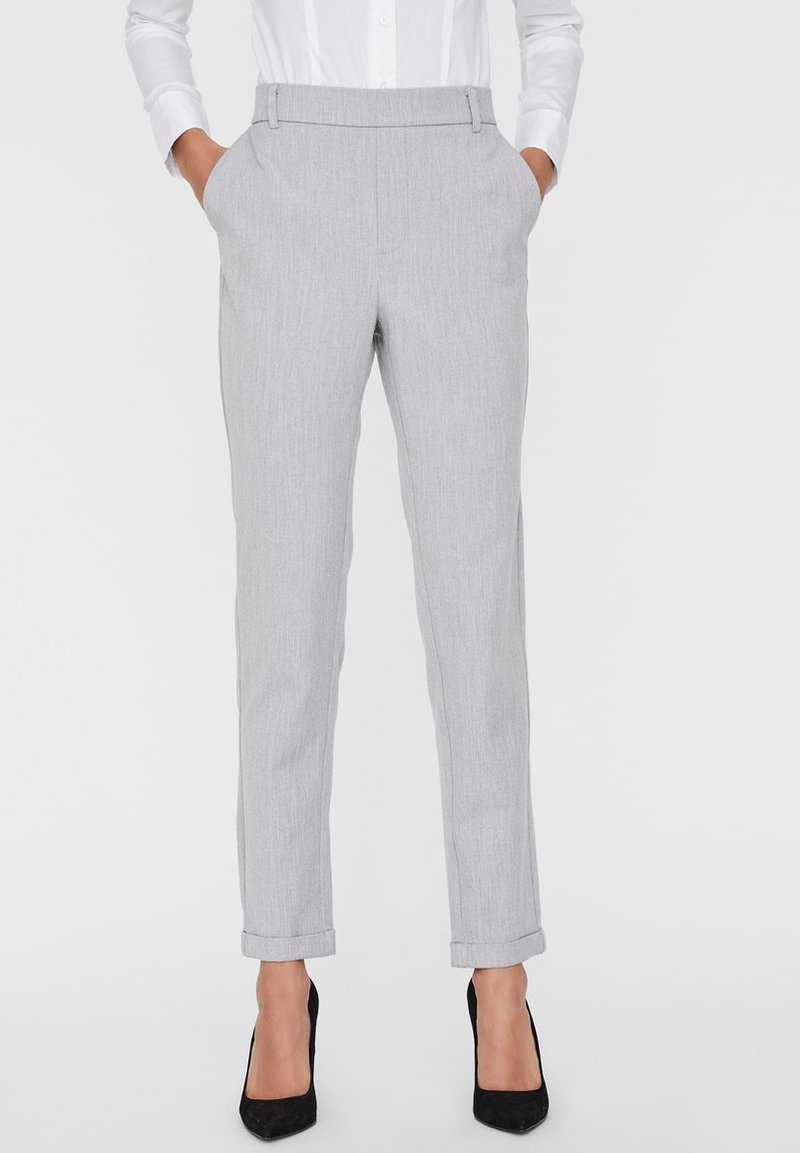 Vero Moda - VMMAYA LOOSE SOLID PANT  - Broek - light grey melange