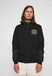 Glorious Gangsta - IRVAS HOODY - Zip-up sweatshirt - jet black - 0