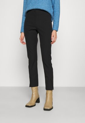 OZETE SPLIT FRONT DETAIL TROUSER - Trousers - black