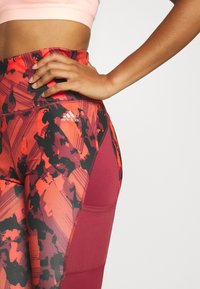 adidas Performance - Leggings - bordeaux - 3
