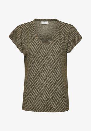 KABABETTE  - Print T-shirt - grape leaf w/ gold lurex
