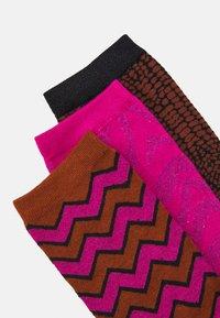 Selected Femme - SLF VIDA SOCK 3 PACK - Socks - very berry/toffee/black - 1