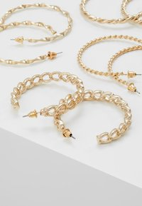Missguided - CHAIN HOOP 4 PACK - Örhänge - gold-coloured - 2