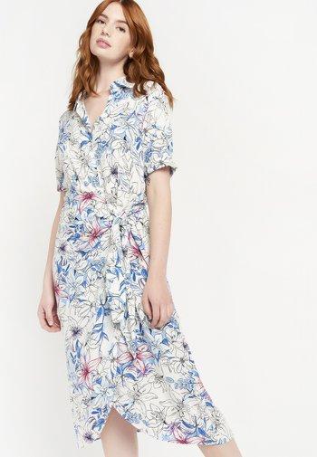 FLORAL - Shirt dress - blue