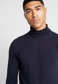 Only & Sons - ONSESSAY ROLLNECK TEE - Long sleeved top - night sky - 3