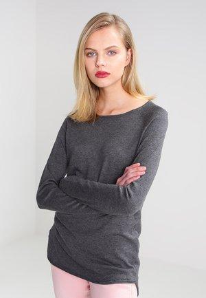 ONLMILA LACY LONG - Strikkegenser - medium grey melange