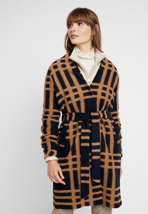 BYANNI CHECKED COAT - Zimní kabát - night sky combi