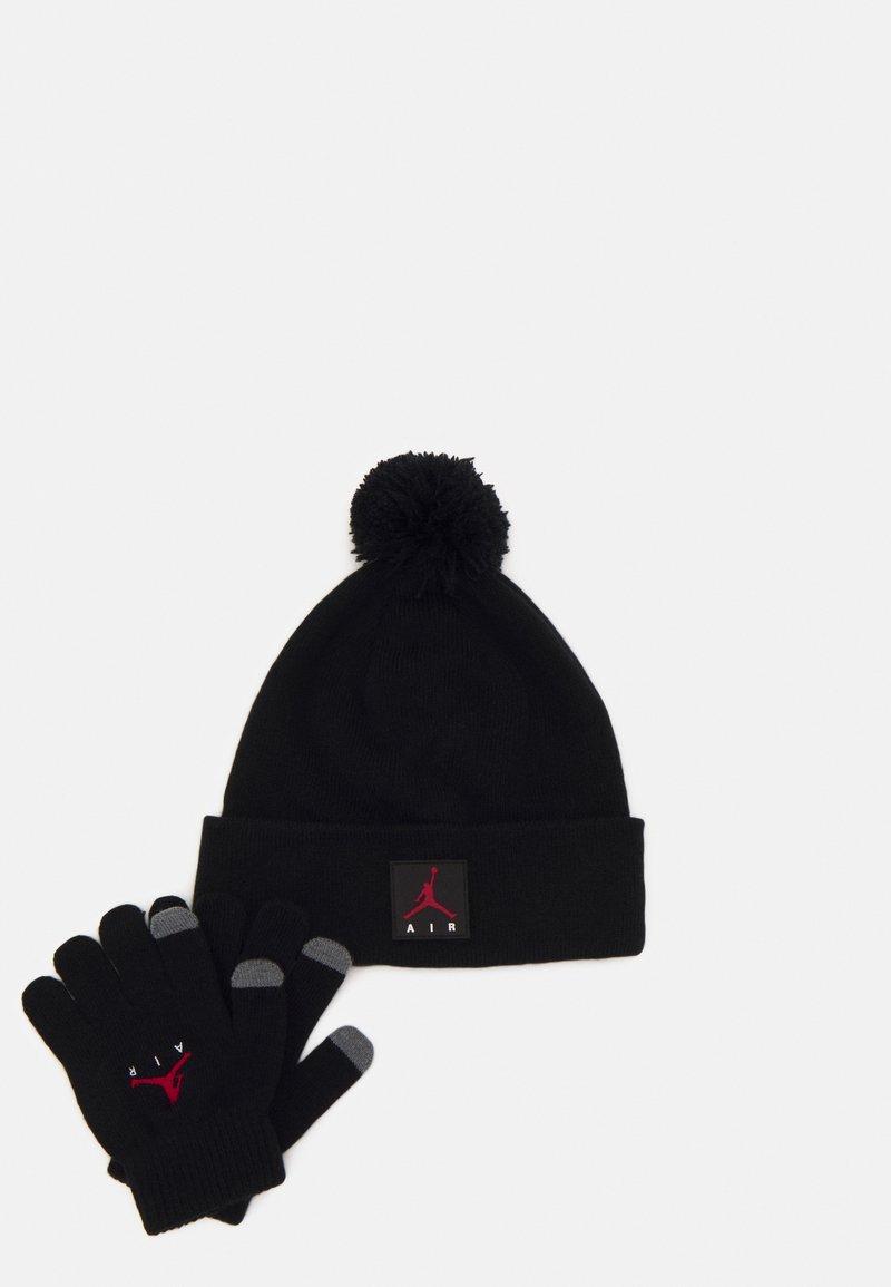 Jordan - AIR PATCH BEANIE SET UNISEX - Gloves - black