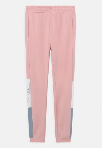 SAMANTHA BLOCKED - Spodnie treningowe - coral blush/blue fog/bright white
