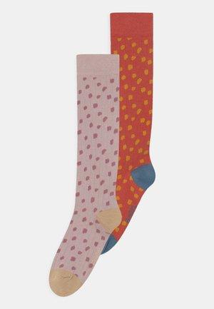 2 PACK - Knee high socks - multi-coloured