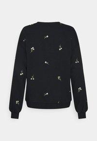 Vero Moda - VMNATALIE EMBROIDERY - Sweatshirt - black/french vanilla/khaki - 1