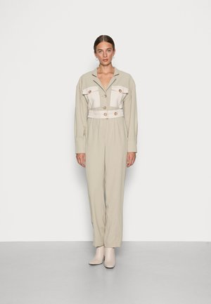 SHOW YOU - Overall / Jumpsuit - sage oatmeal