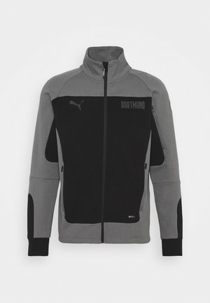 BVB BORUSSIA DORTMUND EVOSTRIPE JACKET - Training jacket - black/castlerock