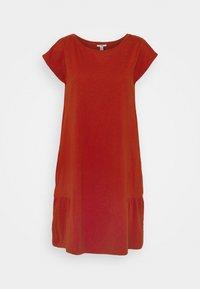 edc by Esprit - SLUB - Jersey dress - terracotta - 0