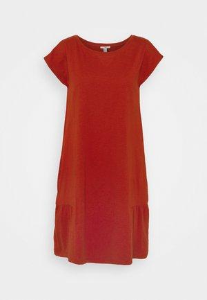 SLUB - Jersey dress - terracotta