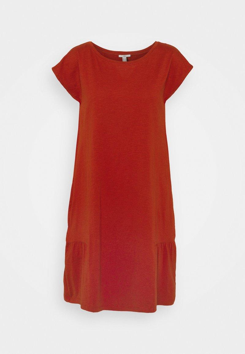 edc by Esprit - SLUB - Jersey dress - terracotta