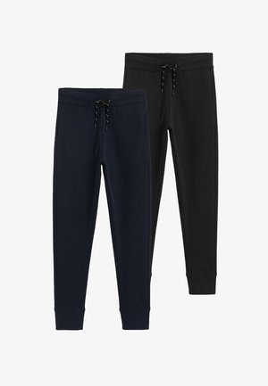 2 PACK - Trousers - schwarz