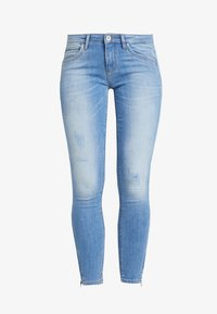 ONLY - ONLKENDELL REGSK ANK ZIP - Jeans Skinny Fit - light blue denim