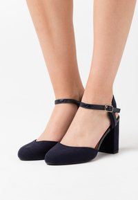 New Look Wide Fit - WIDE FIT SHUTTER 2PART - High heels - navy - 0