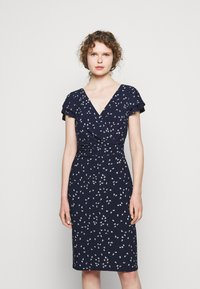 Lauren Ralph Lauren - PRINTED MATTE DRESS - Shift dress - lighthouse navy - 0