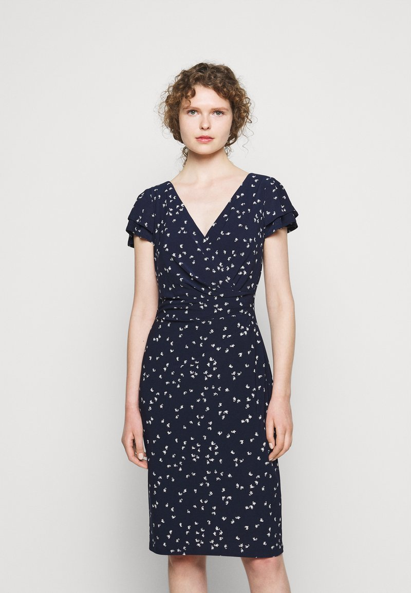 Lauren Ralph Lauren - PRINTED MATTE DRESS - Shift dress - lighthouse navy