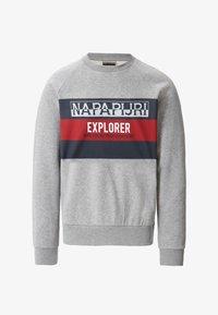 Napapijri - BOVES - Sweatshirts - med grey mel - 6