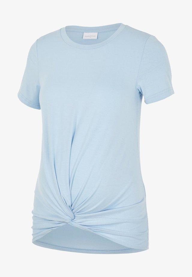 Jednoduché triko - chambray blue