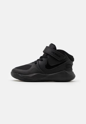 TEAM HUSTLE D 9 FLYEASE UNISEX - Basketbalové boty - black/dark smoke grey/volt