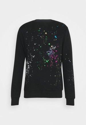 GENTS PAINT SPLATTER PRINT - Sweatshirt - black