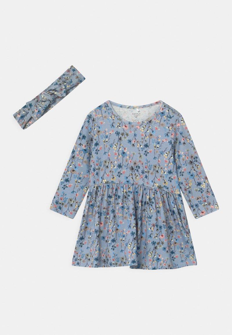Name it - NBFTESSIE SET - Jersey dress - dusty blue