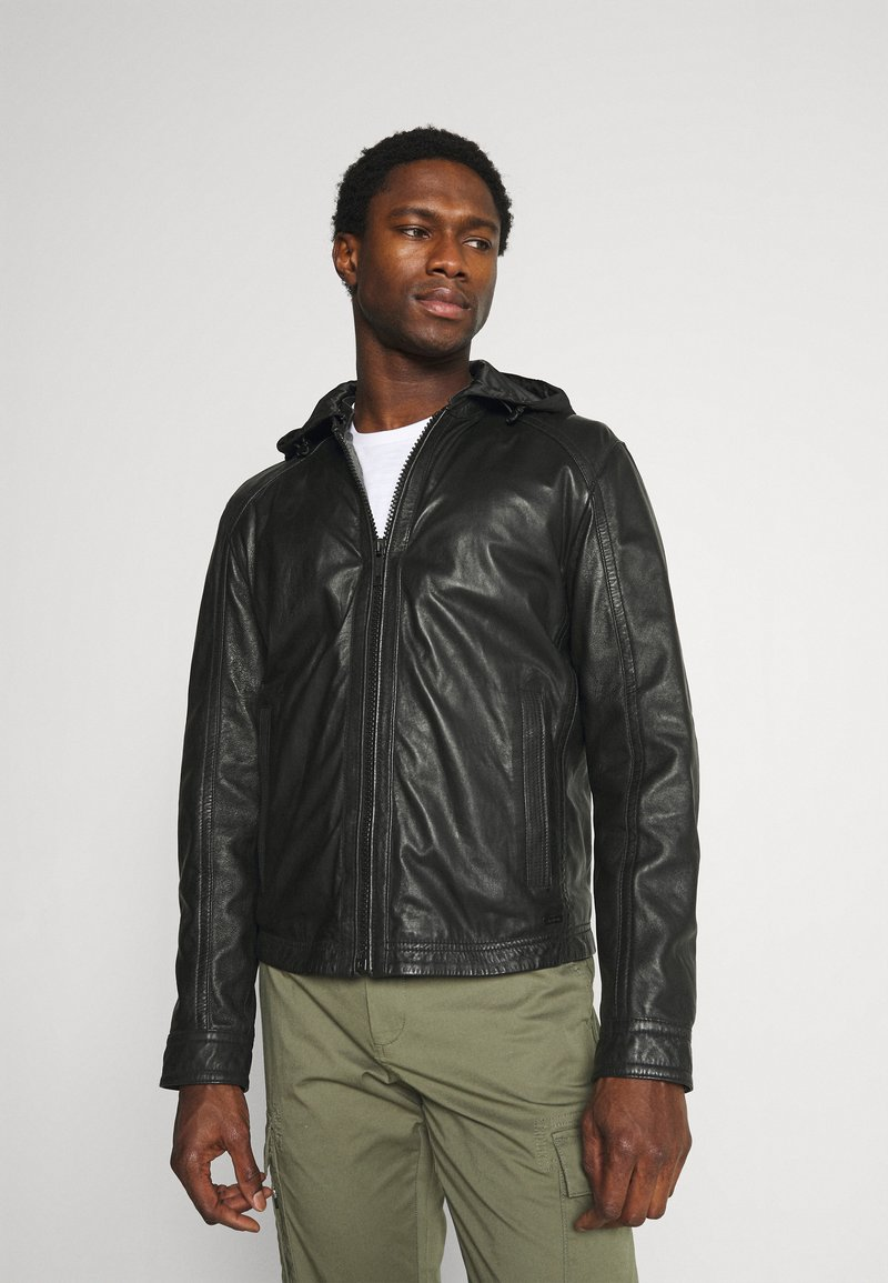 Strellson - FANE - Leather jacket - black