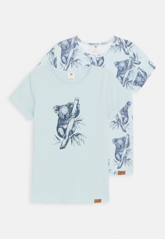 KOALAS 2 PACK - T-shirt print - light blue