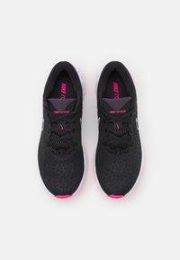 Nike Performance - RENEW RIDE 2 - Neutral running shoes - black/cave purple/hyper pink/grey fog/white - 3