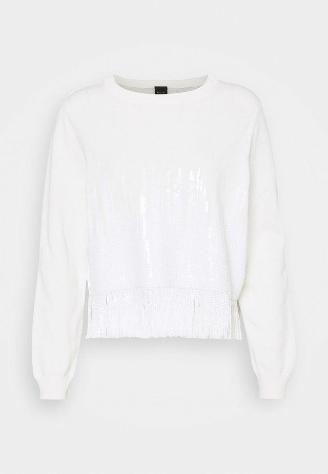 SNOWBOARD MAGLIA - Stickad tröja - white