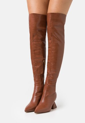 SPIRAL - Over-the-knee boots - tan