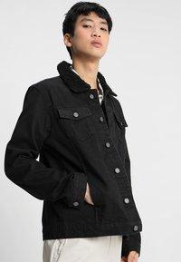 Brave Soul - WILBUR - Denim jacket - black denim - 0