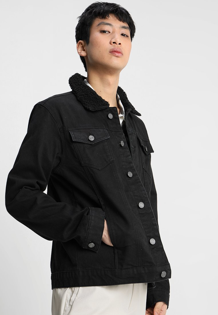 Brave Soul - WILBUR - Denim jacket - black denim