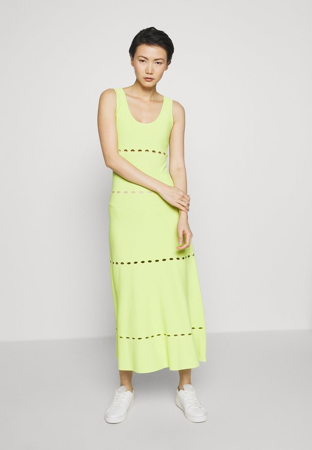 NEON DRESS - Vestito di maglina - lime