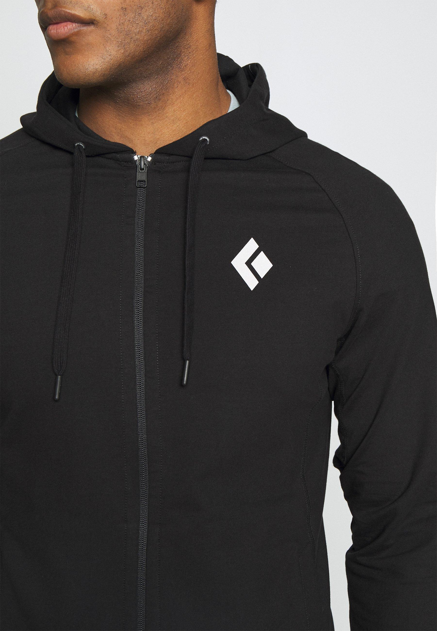 Black Diamond FULLZIP HOODY STACKED - Sweatshirt - black